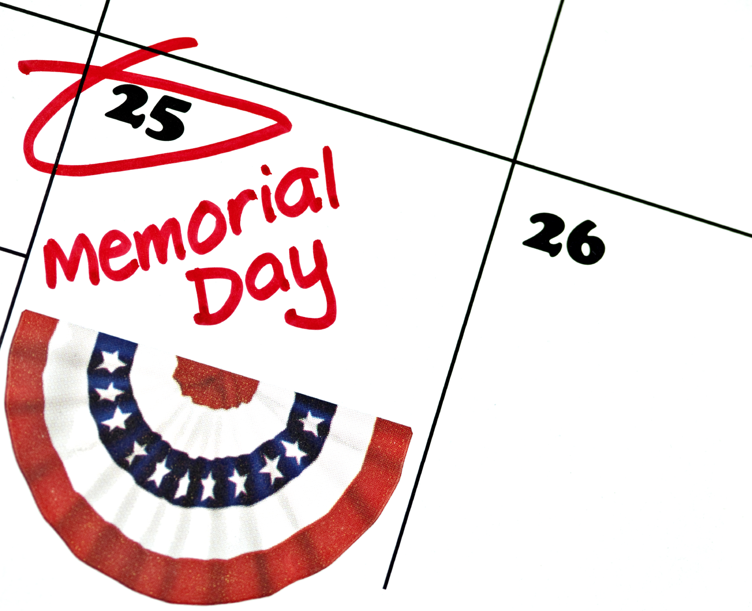 Notice: Memorial Day Weekend