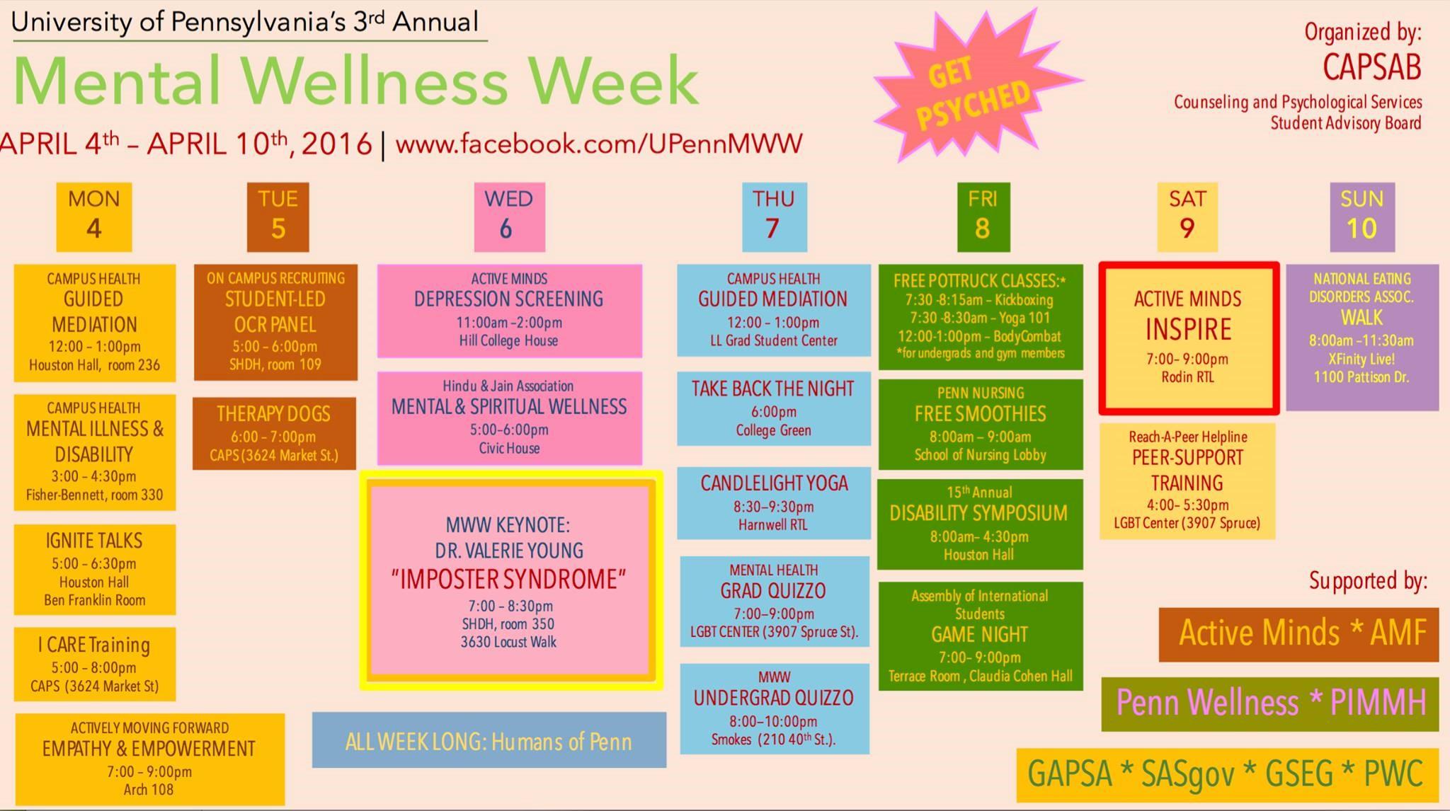 Mental Health Week - Penn & Beyond
