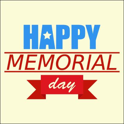 Happy Memorial Day background vector EPS10