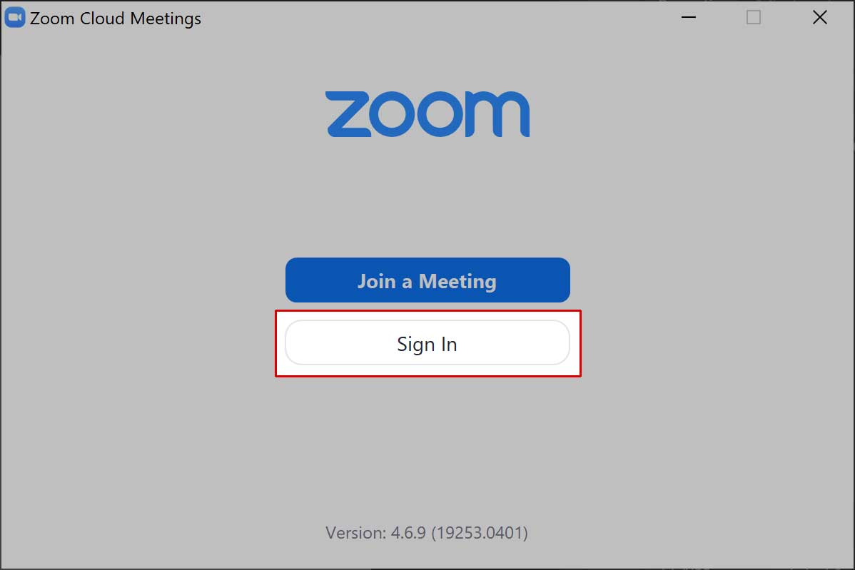 Sign in to Zoom